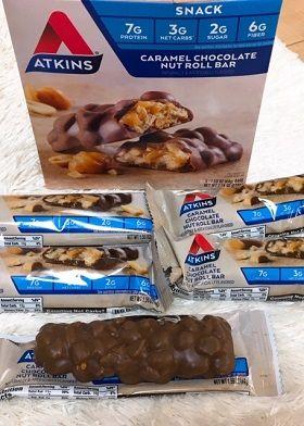 アトキンスキャラメルチョコレートナッツロールバー