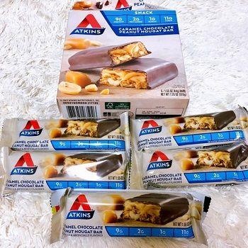 Atkins,キャラメルチョコレート・ピーナッツヌガーバー