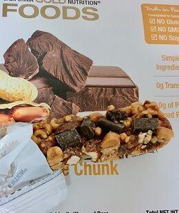カリゴールドピーナッツ&ダークチョコレートチャンクバー