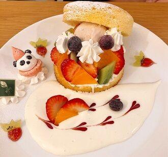 和歌山県産旬のフルーツパンケーキ