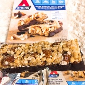 Atkins, Snack, Dark Chocolate Almond Coconut Crunch