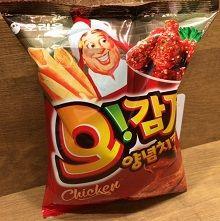 韓国ヤンニョムチキン味スナック菓子