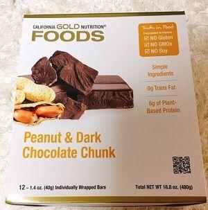 California Gold ピーナッツ&ダークチョコレートチャンク