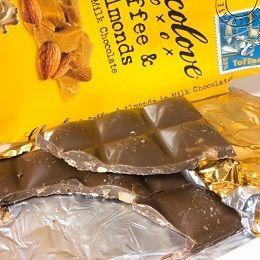 Chocolove,トフィー&アーモンドsミルクチョコレート板チョコ