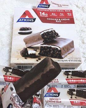 Atkins, ミールバー、クッキーアンドクリームバー