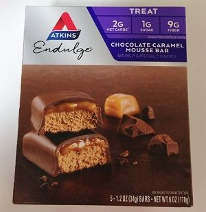 Atkins, エンダルジチョコレートキャラメルムースバー