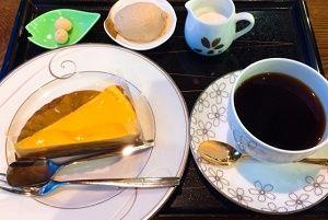 桜珈琲 本日のケーキセット