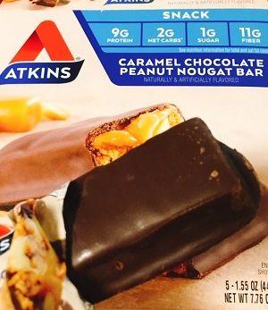 Atkinsキャラメルチョコレート・ピーナッツヌガーバー