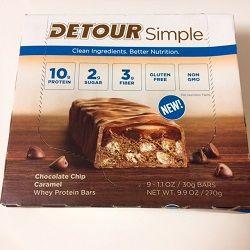 Detour, 乳清タンパク質バーチョコレートチップキャラメル
