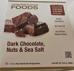 California Gold Nutritionダークチョコレートナッツ&海塩バー