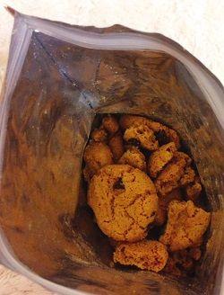 Lucy's, チョコレートチップクッキー、グルテンフリー中身