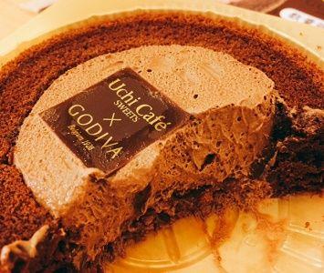 ウチカフェゴディバロールケーキ