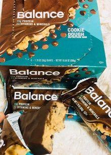Balance Bar, 栄養補給バー、生クッキー味