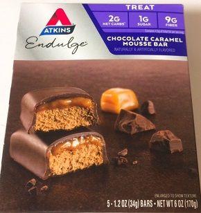 Atkins, エンダルジ チョコレートキャラメルムースバー