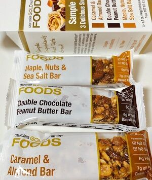 California Gold Nutrition, Sample Snack Bar