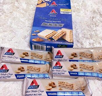 Atkins, プロテインウェイハークリスプ、ピーナッツバター