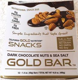 California Gold Nutrition, ダークチョコレートナッツ