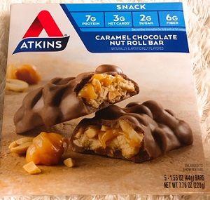アトキンスキャラメルチョコレートナッツロール