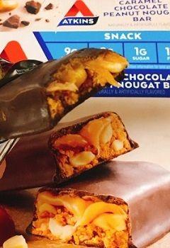 Atkins, キャラメルチョコレート・ピーナッツヌガーバー