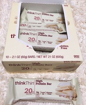 ThinkThin, High Protein Bar, White Chocolate