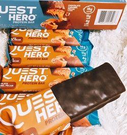 Quest Nutrition,ヒーロープロテインバーチョコレートキャラメル