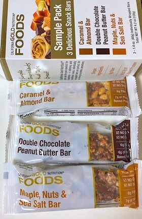 California Gold Nutrition, Snack Bar Pack, 3