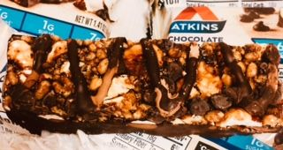 Atkins, Chocolate Hazelnut Bar減量バー
