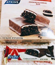 Atkins, Advantage、クッキー&クリーム・バー感想