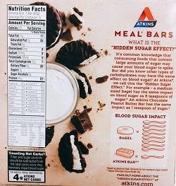 Atkins, Advantage、クッキー&クリーム・バー糖質