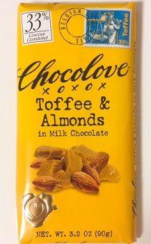 Chocolove, トフィー & アーモンドs イン ミルクチョコレート