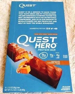 Quest Nutritionプロテインバー、チョコレートキャラメルピーカン