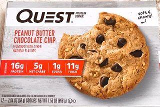 クエストピーナッツバターチョコチッププロテインクッキー
