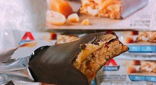 Atkins, Snack, Caramel Chocolate Peanut Nougat Bar,