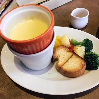 野菜のチーズフォンデュ