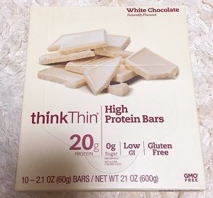 ThinkThin, High Protein Bar, White Chocolate,