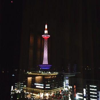 京都タワー夜景