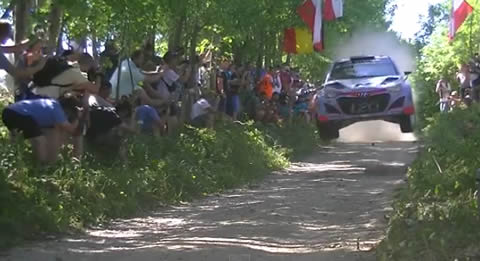 WRC世界ラリー選手権 ラリー・ポーランド 2015 ジャンプシーン集