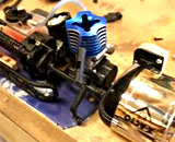 ニトロエンジンで鉛筆削りを作ったら、こうなったw