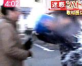 【動画】  突然水をぶっかける名古屋「ハト男」の恐怖! 絶対動じない記者が凄い!