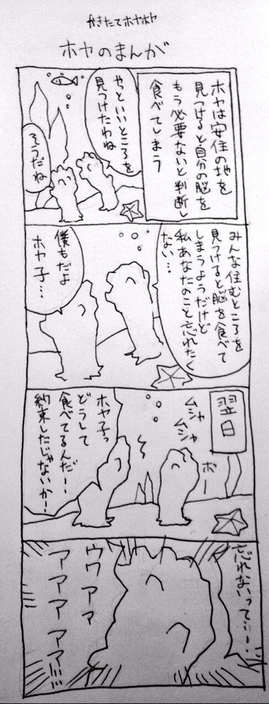【画像】このホヤの4コマ漫画wwwwwwwwwwwww