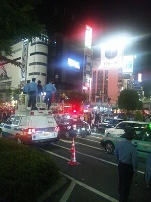 盛り上がる渋谷