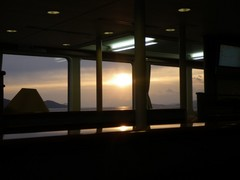 小豆島フェリーからの朝日