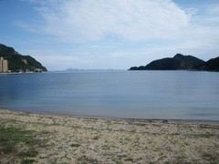 吉田キャンプ場の浜