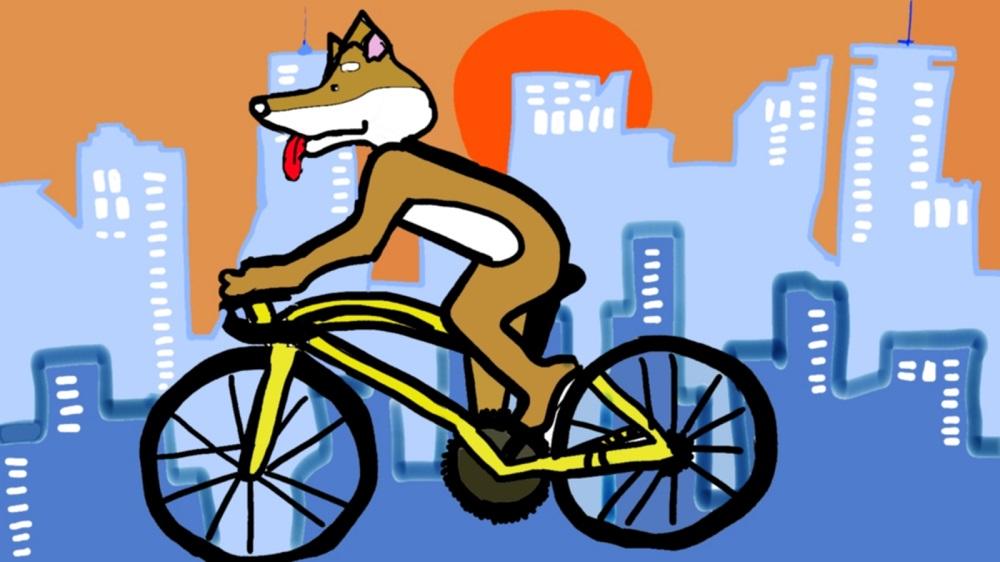サイクルガジェット GUSTOに乗る柴犬