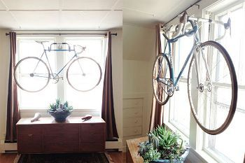 DIY Wall Bike hanger