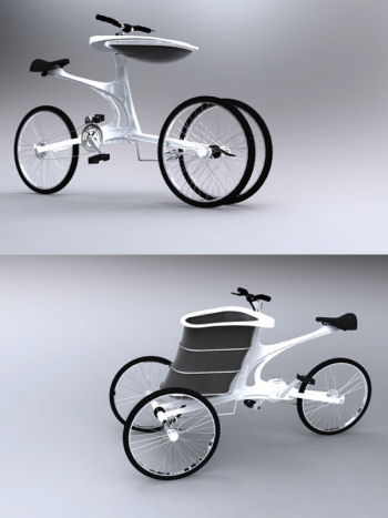 a leisure bike trailer, www.designboom.com