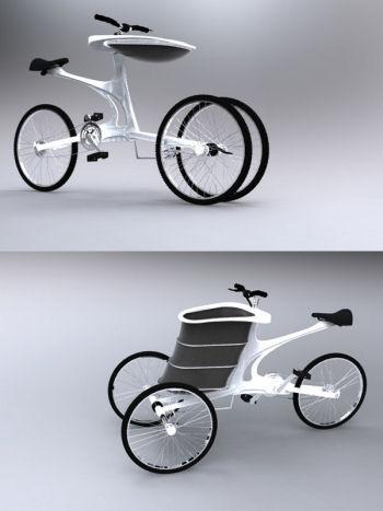 a leisure bike trailer, www.designboom.com