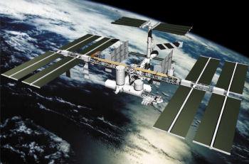 国際宇宙ステーション想像図:JAXA