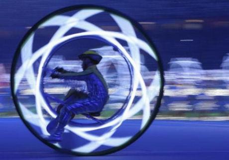 北京五輪の開会式に登場した1輪車
