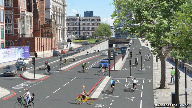 Embankment cycle superhighway